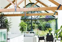 Vaulted timber and glass rooms