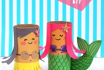 Toilet roll crafts/cardboard tubes