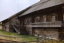 Russia, Soviet Union, wooden houses