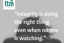 TTM Values: Integrity, Dynamism, Team Work and People Matter /  Integrity, Dynamism, Team Work and People Matter the four core values that encapsulate TTM's company culture and vision for the future