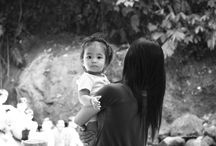 TRAVEL/ STREET PHOTOGRAPHY / ~MOTHER and CHILD~ Shot taken in the Philippines in the Laguna region hundred km of Manila. Freelance Photographer, Francebluebird Photography, photos Travel, Street Photography, Black and White Images at :  www.francebluebirdphotography.com