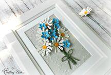 Квиллинг - полевые цветы.