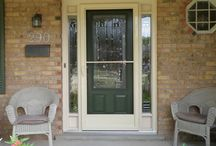 Storm Doors / For Protection Against the Weather, or Ventilation in Your Home on a Gorgeous Day: Installed by Beingessner Home Exteriors in St. Jacobs, Ontario, Canada