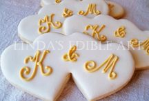 Wedding cookie decor