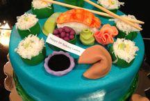 Sushi birthday cakes