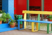 Colourful Benches