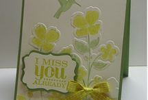 Stampin up 2013 cards / cards that I would like to make from this year's new colours and stamps
