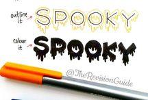 Halloween writing things