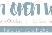 Autumn Open Weekend / Who to see at our Autumn Open Weekend 8th & 9th October at Cattows Farm, Leicestershire. #STAOW16 #FestivalWedding