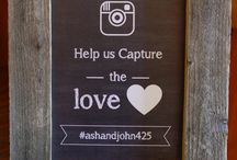 Instagram Wedding Signs / Ideas for instagram wedding signs for your wedding - get your guests to be social by posting an instagram hashtag for your wedding and these are the best instagram wedding signs around.