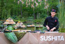 BARRA DE SUSHI / A través de nuestro servicio de catering, ofrecemos una barra de sushi con sushiman para cualquier tipo de evento