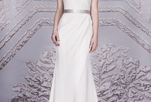 Crepe Wedding Dress / Crepe Wedding Dress by Bridal Designer Suzanne Neville