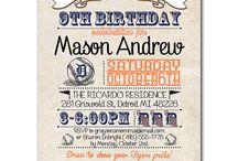 Men's Birthday Invites and Wrap