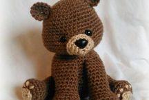 Estampa padronizada de urso