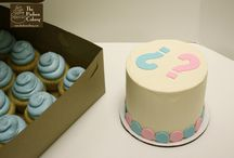 Gender Reveal cakes and sweets / Pink or Blue?