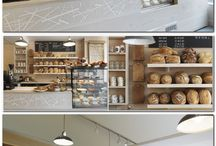 cafe/bakery display
