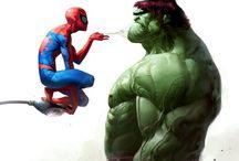 Super heroes n stuff / by Harley Brenner