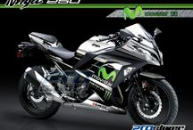 Modifikasi Ninja 250 FI - Decal Modif Full Body Prostiker / Modifikasi Ninja 250 FI - Decal atau Striping Kawasaki Ninja 250 FI (Fuel Injection) Modifikasi Full Body Koleksi Prostiker.Com
