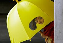 There is a yellow umbrella for everyone