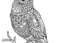 животные птицы рисунки