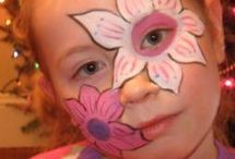 Face painting for Gwynnis party