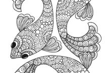 Antistress colouring pages