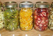 Frutas secas em casa