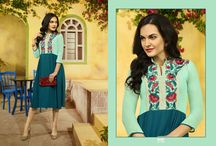 2369 Crystal Fancy Georgette Kurtis