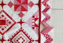 Quilt Blocks--- Red & White Nearly Insane