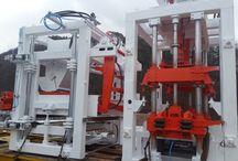 벽돌기계 블록 성형기 / 투수블록 옹벽블록 친환경 블록 생산 머신