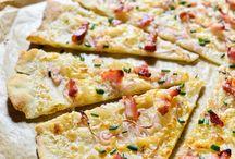 Tartes et pizza