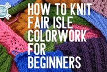 fair isle and variational patterns knitting
