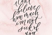 jennifer bianca calligraphy / calligraphy and hand lettering by jennifer bianca calligraphy. quotes and verses.