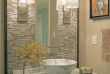 Bathrooms | Tile / Tile treatment ideas and inspiration for the bathroom.
