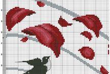 zegar czerwone liście