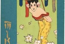 Postcards / Decorative or special vintage postcards. War in China.