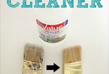 Cleaning and storing paint brushes / Tips on how to clean and store paint brushes and clean paint