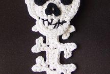Crochet Skulls and Spider Webs