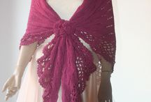 Handmade  Crochet Triangle Shawl / Handmade  Crochet Triangle Shawl
