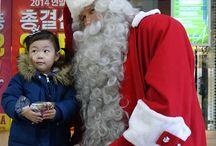 Finnish Santa in South Korea / Santa Claus was spreading Christmas joy in South Korea in December 2014.