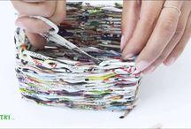 cestino con giornale