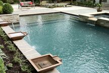 Custom Gunite Pools / These projects were created through a collaboration of ideas between our clients and design team to create an outdoor environment that is both aesthetically pleasing, and functional within the existing space.