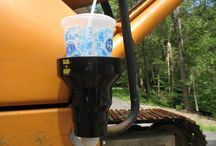 Magnetic Cup Holder / The KAZeKUP® Magnetic Cup Holder is a strong durable cup holder that makes a great addition to your tractor, work bench, toolbox and more. #magneticcupholder #magneticdrinkholder #kazekup #giftsbykaz