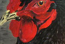Kippen - Hobbykunstschilder