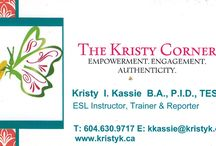 The Kristy Corner - Services and Affiliates / English and ESL Classes, Accent Reduction Training and more!