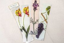 """Figments Studio Flora & Fauna Bookmarks / Our Flora and Fauna Bookmarks feature beautiful nature-inspired images. Each package contains 3 different designs. Size: 7 1/2"""" x 1 1/2"""" Price: $3.95"""