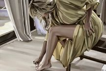 D.W.C. Nature and Woman - Painter Jim Farrant /  Jim Farrant was born in 1972 and currently lives in Somerset. He considers himself to be self-taught and has had some Considerable success since he commenced painting full-time in 2002. His original paintings are also for sale through the Enid Lawson Gallery, London and The Marine-House at Beer, Devon.