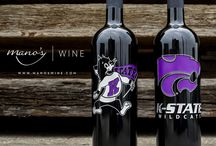 Collegiate Wines / School logos and mascots etched and hand-painted on bottles of wine!