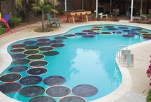 Pool / Pre heat with lily pads