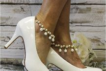 Wedding ankle bracelets / Shop our latest look in wedding fashion. Ankle bracelets to make your heels stunning or go barefoot for that little extra bling! Found only at catherinecole.com
